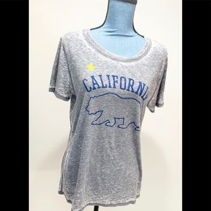 Modern Luxe California Graphic Burnout Shirt Xl